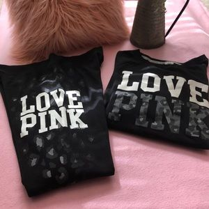 LOVE PINK sweatsuit with leopard print